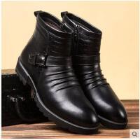 古奇天伦 男士皮靴 拉链男鞋时尚高帮休闲男靴保暖棉靴潮靴GH6022
