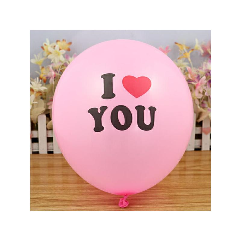 生日婚庆气球 结婚婚礼用品礼品 婚房装饰布置创意_i love you 粉色