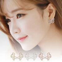 韩版时尚饰品 耳钉女款  水钻镂空蝴蝶无耳洞耳环