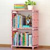 蜗家简易书架加固书柜现代简约桌上三层书架置物架