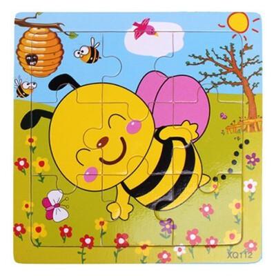 木质儿童早教9片动物拼图 0-1-2-3岁宝宝拼图儿童玩具_14