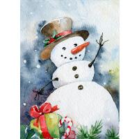 包邮【油画雪人】圣诞节 木质300/500/1000/1500片拼图成人儿童玩具