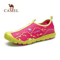 camel骆驼户外徒步鞋 春夏上新女款透气网布 耐磨防滑徒步鞋