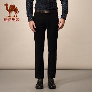Camel/骆驼男装冬装修身版休闲裤 男士纯色商务休闲长裤潮