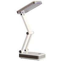 得力文具(deli)3676 台灯 充电LED节能  可折叠式护眼灯  手机贴膜学生阅读学习台灯