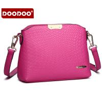【支持礼品卡】DOODOO 2017新款时尚包包女包手包欧美风鳄鱼纹单肩小方包甜美女士斜跨包 D5123