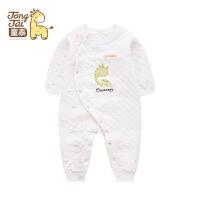 童泰新款新生儿衣服男女宝宝连体衣保暖内衣婴儿爬爬服哈衣长爬服