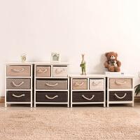 家逸 韩式实木床头柜 斗柜收纳组合柜边桌卧室家具简约储物柜 整装发货