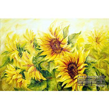 【星星朗拼图/拼板】向日葵风景油画装饰画500/1000