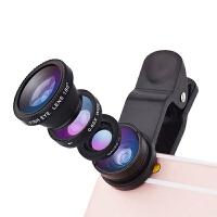 手机通用自拍镜头 外置特效摄像头 手机广角镜头 手机微距镜头 手机鱼眼镜头 广角微距鱼眼三合一镜头 美颜摄影神器
