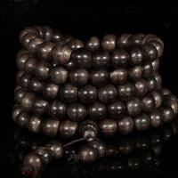 缘饰传说 加里曼丹天然黑油沉香手串108颗 清淡药香 佛珠手链