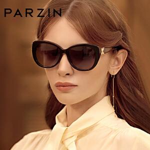 帕森新款太阳镜 女经典板材偏光墨镜蝴蝶腿水钻驾驶眼镜9612