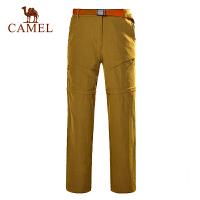 camel骆驼户外速干裤 男女情侣 新款长短两穿快干速干裤