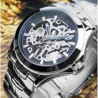 新款运动商务钢带机械表男表时尚个性休闲镂空手动机械品质男士手表