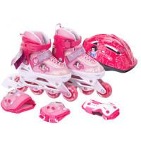 户外运动直排轮滑鞋套装 儿童八轮全闪光旱冰鞋男女溜冰鞋