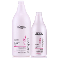 L'OREAL/欧莱雅 染后护色洗护套装洗发水洗发露1500ml+护发素750ml 进口专业洗护发 染后护理