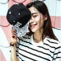 新款时尚休闲户外韩国情侣帽平沿鸭舌帽 潮帽男士嘻哈帽