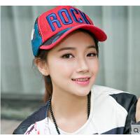 时尚俏皮鸭舌帽女棒球帽女帽子迷彩网帽棒球帽户外防晒韩版街舞
