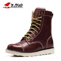 Z.Suo/走索英伦马丁靴男鞋皮靴子高帮男士棉鞋潮军靴工装靴zs5990