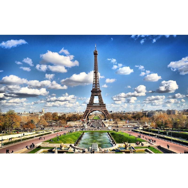 建筑巴黎地标 埃菲尔铁塔