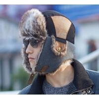 男士冬天户外加厚护耳冬帽   帽子男   雷锋帽韩版潮滑雪帽保暖帽