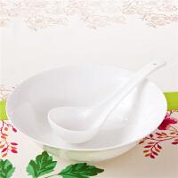 [当当自营]SKYTOP斯凯绨 陶瓷高档骨瓷餐具 纯白9英寸汤碗